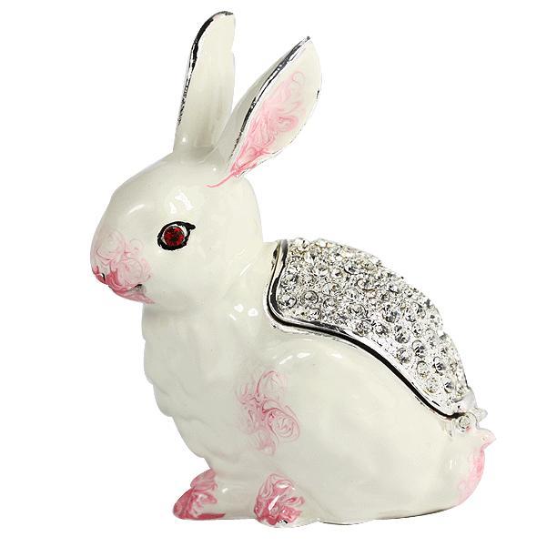 可爱小白兔首饰盒一个