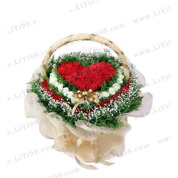 111支玫瑰花束包装一束
