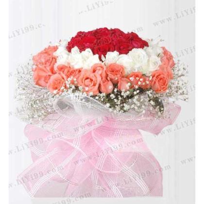爱的77朵守护(77支玫瑰)