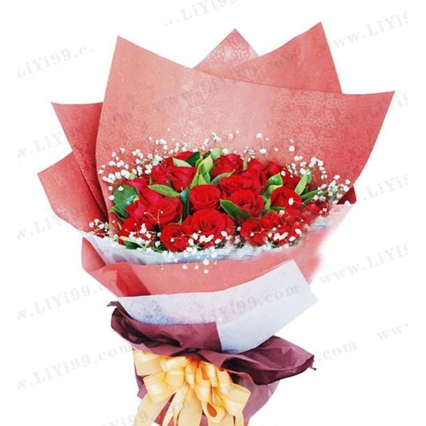 33枝玫瑰鲜花花束一束