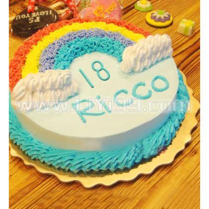 18岁的天空(定制蛋糕)