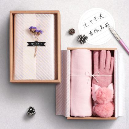 送你温暖(围巾+手套)