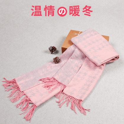 千鸟格围巾