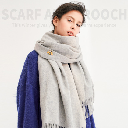 100%羊毛围巾(披肩)